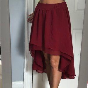 NWOT High Low Skirt